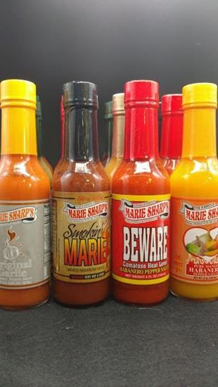 Picture of Free Shipping on this item only!  Dr. Chile Pepper's Everything Pack   One of every 5 oz flavor Marie Sharp's makes!