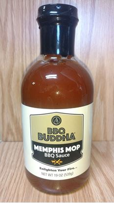 Picture of NEW PRODUCT FROM BBQ BUDDHA- Memphis Mop BBQ Sauce, 19 oz glass bottle
